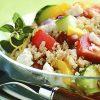 Греческий салат с лебедой