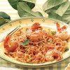 Лингвини с креветками и сливочно-томатным соусом