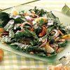 Салат из шпината с сырным соусом